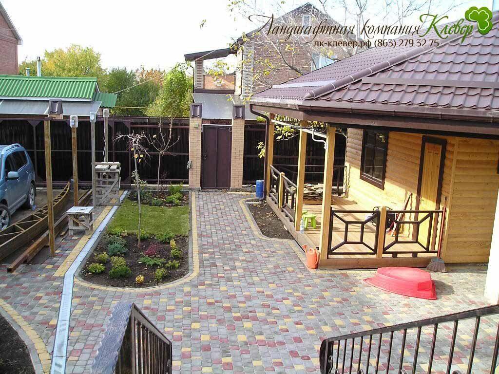 фото интерьер двора частного дома