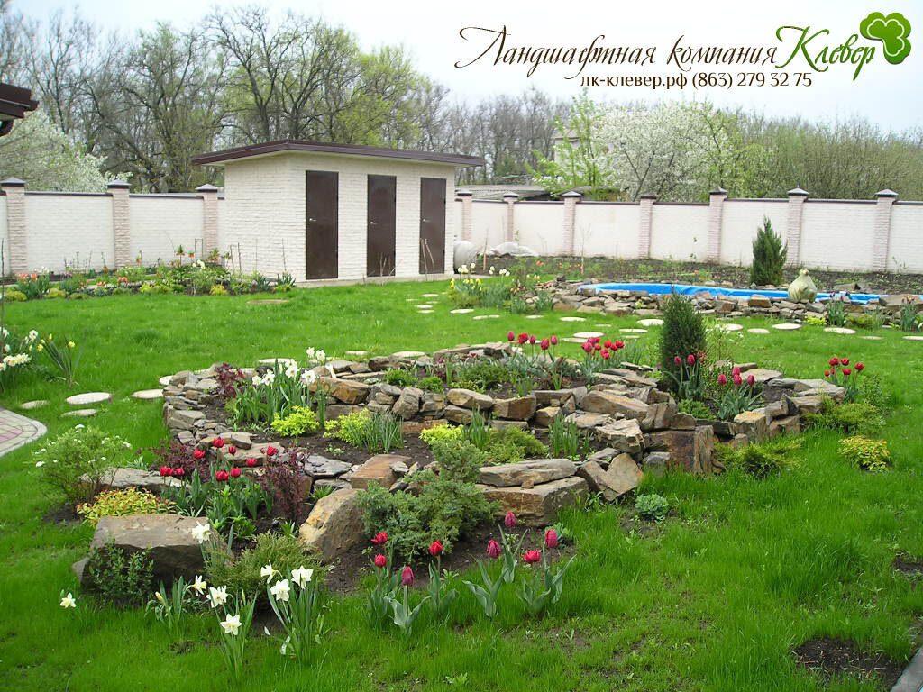 Дизайн двора в деревне своими руками фото